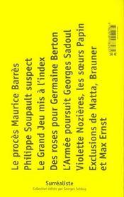 Procès surréalistes - 4ème de couverture - Format classique