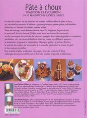 Pâte à choux ; tradition et évolution en 53 réalisations sucrées, salées - 4ème de couverture - Format classique