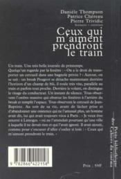 Ceux Qui M Aiment Prendront Le Train - 4ème de couverture - Format classique