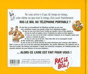 Du Telephone Portable - 4ème de couverture - Format classique