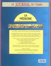 Le journal du temps n.10 ; la medecine - 4ème de couverture - Format classique