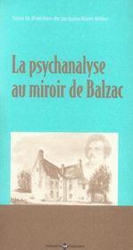 Psychanalyse Au Miroir De Balzac - Intérieur - Format classique