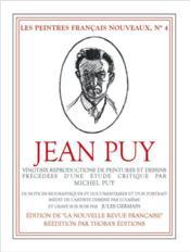 Jean Puy ; réédition de la Nouvelle revue française - Couverture - Format classique