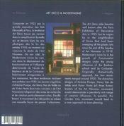 Art déco et modernisme - 4ème de couverture - Format classique