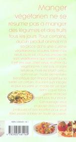 Equilibre, plaisirs, bienfaits de la cusine vegetarienne - 4ème de couverture - Format classique