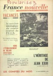 France Nouvelle N°923 du 26/06/1963 - Couverture - Format classique