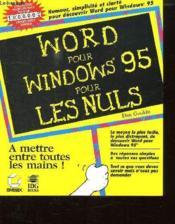 Word Pour Windows 95 Poiur Les Nuls - Couverture - Format classique