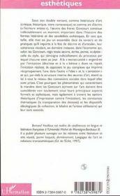 L'Art Des Goncourt : Une Esthetique Du Style - 4ème de couverture - Format classique
