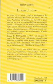 La tour d'ivoire - 4ème de couverture - Format classique