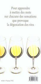 Apprendre A Deguster Les Vins - 4ème de couverture - Format classique