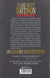 Des Cadavres Dans Le Pudding - 4ème de couverture - Format classique