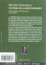 Système de la méditerranée - 4ème de couverture - Format classique