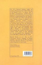 Berl Morand Et Moi - 4ème de couverture - Format classique