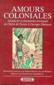 Amours coloniales - Couverture - Format classique