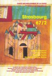 Carte Archeologique De La Gaule T.67/2 ; Strasbourg - Intérieur - Format classique
