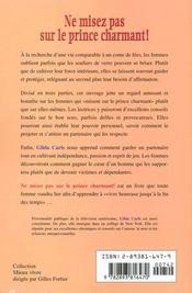 Ne Misez Pas Sur Le Prince Charmant - 4ème de couverture - Format classique