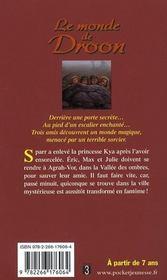 Le monde de Droon t.7 ; la vallée des ombres - 4ème de couverture - Format classique
