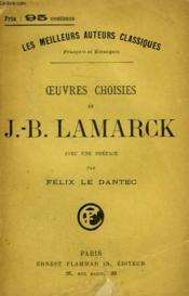 Oeuvres Choisies De J.-B. Lamarck. - Couverture - Format classique