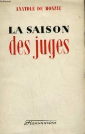 La Saison Des Juges. - Couverture - Format classique