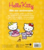 HELLO KITTY ; Hello Kitty fête son anniversaire - 4ème de couverture - Format classique