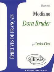 Étude sur Modiano ; Dora Bruder - Couverture - Format classique
