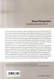 Douce perspective ; une histoire de science et d'art - 4ème de couverture - Format classique