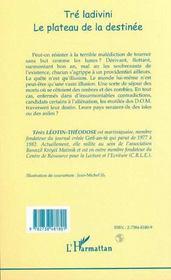Tre Ladivini : Le Plateau De La Destinee - 4ème de couverture - Format classique