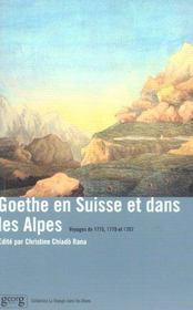 Goethe En Suisse Et Dans Les Alpes - Intérieur - Format classique