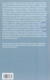 Goethe En Suisse Et Dans Les Alpes - 4ème de couverture - Format classique