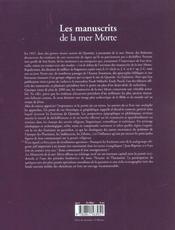 Les manuscrits de la mer morte - 4ème de couverture - Format classique