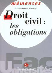 Memento Dt Civil : Obligations - Intérieur - Format classique