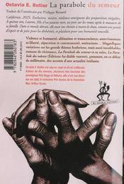 La Parabole Du Semeur - 4ème de couverture - Format classique