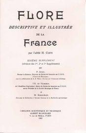 Flore descriptive et illustrée de la France ; 6e supplément - Intérieur - Format classique