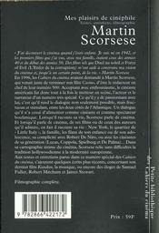Mes plaisirs de cinéphile ; textes, entretiens, filmographie complète - 4ème de couverture - Format classique