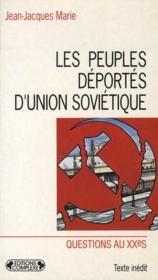 Les peuples déportés d'Union soviétique - Couverture - Format classique