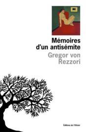 Memoires D'Un Antisemite - Couverture - Format classique