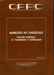 Annexes Au Fascicule Preparation Au Concours De Secretaire De Mairie - Couverture - Format classique