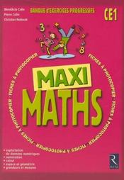 Defi Maths ; Ce1 ; Fiches A Photocopier - Intérieur - Format classique