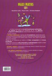 Defi Maths ; Ce1 ; Fiches A Photocopier - 4ème de couverture - Format classique
