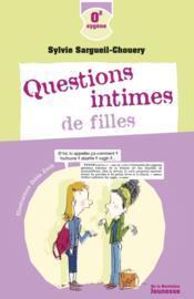 Questions intimes de filles - Couverture - Format classique