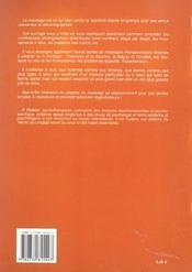 Massage (Le) - 4ème de couverture - Format classique