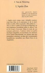 L'Apres-Zen - 4ème de couverture - Format classique
