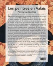 Les peintres en Valais ; peintures alpestres - 4ème de couverture - Format classique