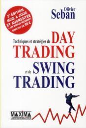 Techniques et stratégies de day trading et de swing trading - Couverture - Format classique