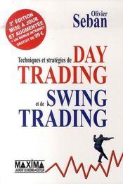 Techniques et stratégies de day trading et de swing trading - Intérieur - Format classique