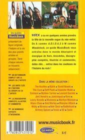 Korn De A A Z - 4ème de couverture - Format classique