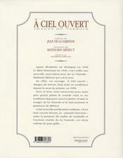 À ciel ouvert ; images du terroir - 4ème de couverture - Format classique
