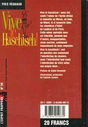 Vive Le Haschisch - 4ème de couverture - Format classique