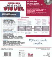 Maitriser Windows 98 (+cd Rom) - 4ème de couverture - Format classique