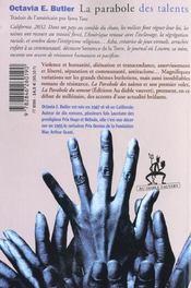 La Parabole Des Talents - 4ème de couverture - Format classique